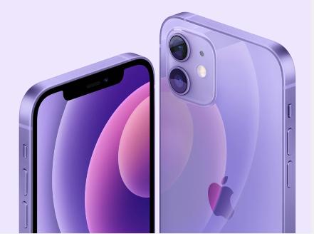 苹果推出全新紫色iPhone 12和iPhone 12 mini