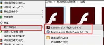 选择FLASH播放器